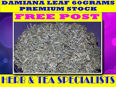 DAMIANA LEAF 60g☆Turnera diffusa☆APHRODISIAC☆DRIED HERB☆PREMIUM STOCK☆ FREE POST