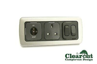 CBE Triple Frame, VW T5 Campervan, 12v Socket, 240v Socket, Double 12v Switch FL