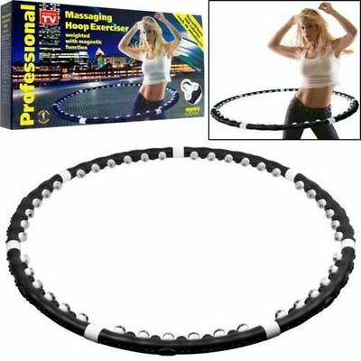 New Hula Hoop Fitness Exercise Abs Workout Gym Professional Weighted Multi Color