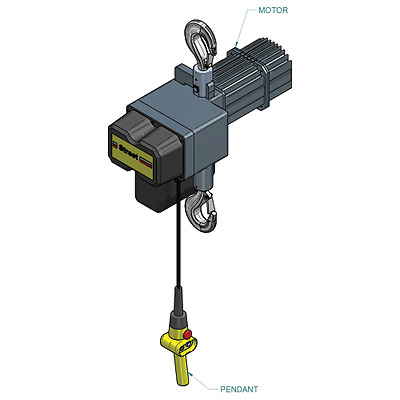 1 Ton Electric Chain Hoist Two Speed Street LX Series Free Freight!