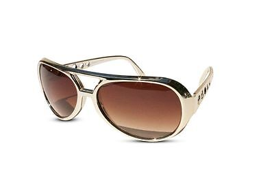 Classic ELVIS PRESLEY Sun Glasses LAS VEGAS COSTUME - GOLD USA Glasses