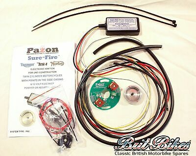 PAZON SURE-FIRE Twin Cylinder 12 Volt Triumph & BSA Electronic Ignition Kit