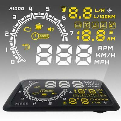 "5.5"" Car HUD Head Up Display KM/h MPH OBDII  Vehicle Speed Warning System 6D83"