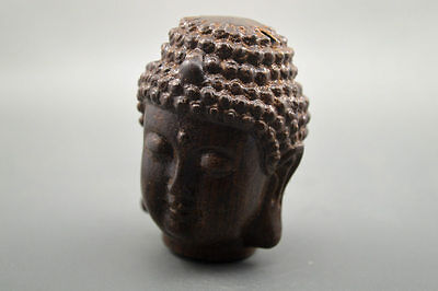 Collectible Chinese Agarwood Wood Hand Carved statue Buddha head