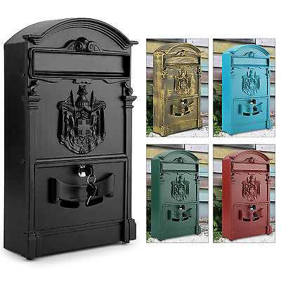 Vintage Outdoor Lockable Post Box Large Mailbox Letter Box Mail Wall Mounted NEW