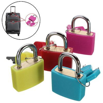 Brass 20mm Travel Luggage Suitcase Laptop Bag Padlock Lock With Two Keys Set New