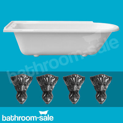 Norfolk Left Hand Traditional Roll Top Bath inc Cast Iron Feet RRP £599 GENUINE