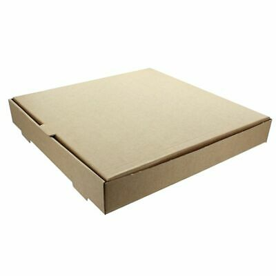 "10 x Plain Brown 10"" Pizza Box Takeaway Packing Postal Box"
