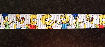 The Simpsons Homer Marge Bart Ribbon 22mm x 1 Metre for Cake Hair Craft  Retro
