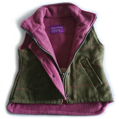 Girl's Tweed Gilet - Sizes 3-4 - 8-9 Years - Shire Classics - Made in UK