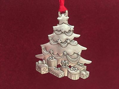 Fine pewter Christmas tree decoration