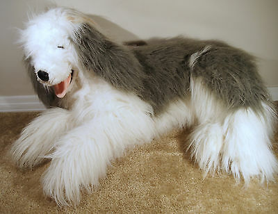 Old English Sheepdog Large Plush Dog Shaggy Dog Life Like Prima Brand Toys