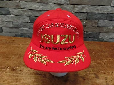 Vintage Isuzu Trucker Hat The First Car Builders Of Japan Technovators RARE