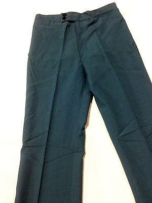 Vintage Boys / Mens 1970's Leisure Pant Clothing Golf Disco 70s Dark Blue