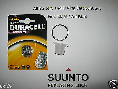 Duracell Battery & O Ring Kit Suunto Cobra Vytec Vyper Gekko  with FREE GREASE!