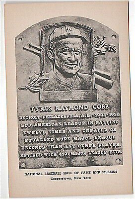 1951--Ty Cobb--Official Albertype Hall Of Fame Card--Type 2--Nmt