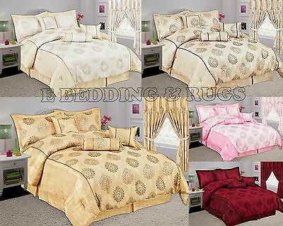7pcs MALTA Comforter Set Pillow Cases, Valance Sheet, Cushion and Neck Roll