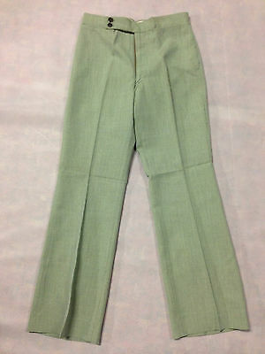 Trouser Green Thatch Weave Vintage Boys / Mens 1970's Leisure Pant Clothing Golf