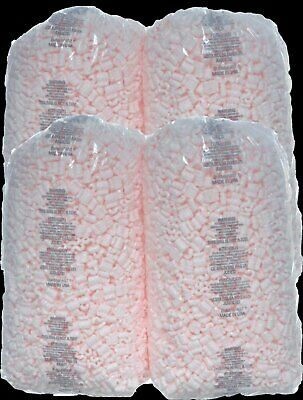 Packing Peanuts 14 cu ft lot  [(4) 3.5 cu ft Bags]  Pink Anti Static 104 gallons