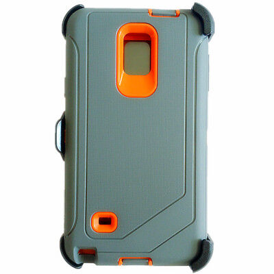 For Samsung Galaxy Note4,Defender Case Full Protection Holster Fit Otterbox Gray
