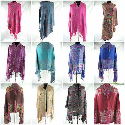*US SELLER*  5pcs wholesale paisley viscose pashmina wrap shawl wrap scarves