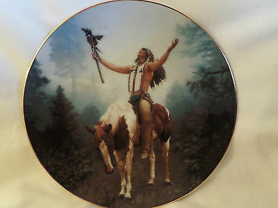 "Hamilton Collection ""deliverance"" Indian On Horseback 8-1/2"" Collector Plate"