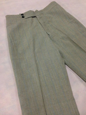 Light Trouser Grey Blue Pin Vintage Boys / Mens 1970s Leisure Pant Clothing Golf