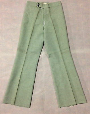 Vintage Boys Mens 1970's Leisure Pant Disco Tweed Trouser Size 27