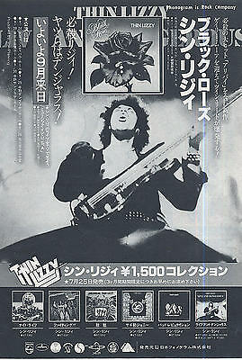 Thin Lizzy 1979 Vintage Japan Promo Ad