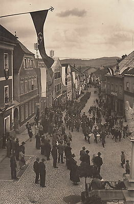 WORLD WAR II ~ GERMAN MILITARY BAND MARCHING THROUGH SMALL TOWN ~ c. - 1939