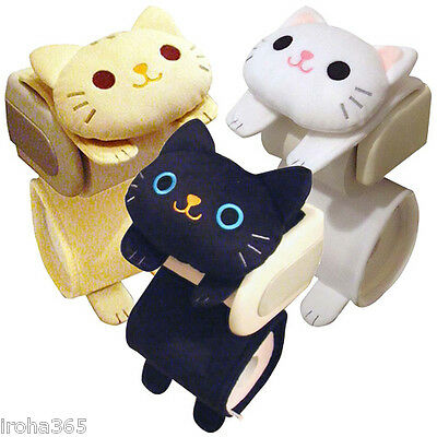 Cat Toilet Paper Holder Roll Storage Cover / Black Tiger White / Fluffy Kawaii