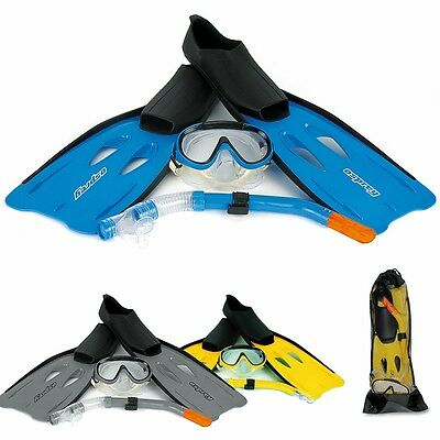 Snorkelling Set - Mask, Fins, Snorkel | Ideal for Holiday/Starter Set | FREE P&P