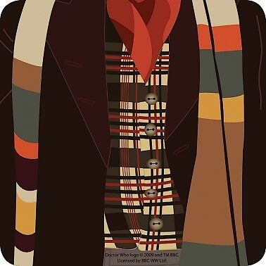 Doctor Who Suit And Scarf 4th Doctor Single Coaster Official New
