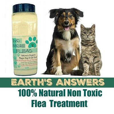 SAFE Natural Flea and Tick Powder For Dogs, Puppies Cats and Kittens