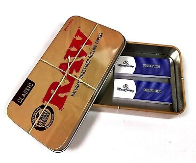 MontCherry Brand Tips with Raw Metal Tobacco Tin/Stash Can Various Combo Deals