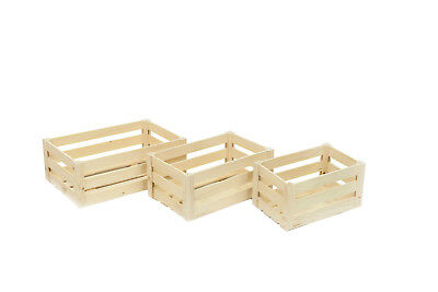 WOODEN CRATE PLAIN WOOD DECOUPAGE CRATES 3 sizes GIFT herbs box