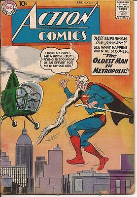 DC 1959 Action Comics #251 Oldest Man In Metropolis Tommy Tomorrow Congo Bill