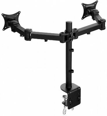Lavolta Stand Arm Pole For 2x Monitor LCD LED TV Screen Display Flat Panel