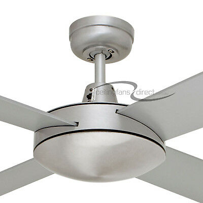 "52"" 4 Blade Brushed Aluminium Martec Lifestyle Ceiling Fan Dls134B"