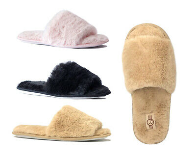 WHOLESALE LOT 36 Prs Classic House Slipper Rubber Bottom Faux Fur Shoe -3022