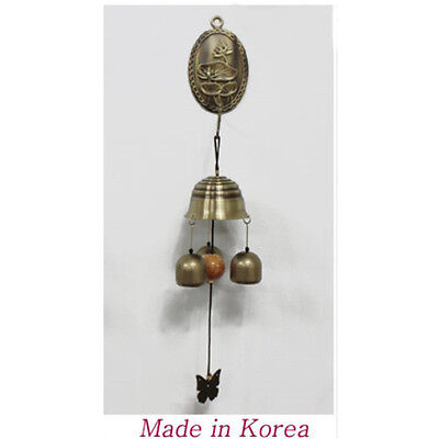 Handicraft Door Brass Bell Shop Keepers Antique Lotus-shaped Attached Magnet 06