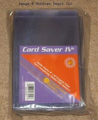 1000 CBG Card Saver IV Semi Rigid 4 x 6 Photo / Picture / Postcard Holders 4x6