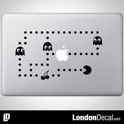 "PACMAN Apple MacBook Decal Sticker fits 11"" 13"" 15"" and 17"" models"