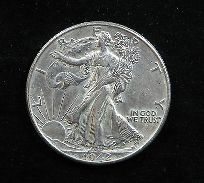 Walking Liberty Half Dollar 1942-P Brilliant Uncirculated (BU) Condition[L-032 ]