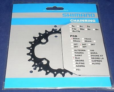 Shimano 24T, 10-Speed Chainring for SLX FC-M660-10, M670, PN: Y1LU24000