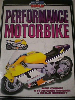 PERFORMANCE MOTORBIKE - PRESS OUT & BUILD  33cm Racing Bike-No Glue Needed!