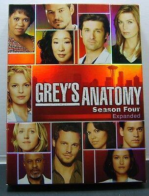 Grey's Anatomy - The Complete Fourth Season (DVD, 2008, 5-Disc Set)(Expanded)
