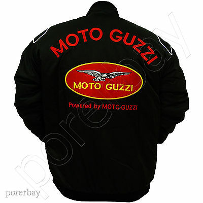 Moto Guzzi Motorcycle Sport Team Racing Jacket #jkmg01
