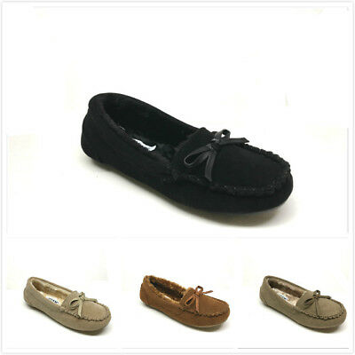 New Women's Moccasin Slippers Size 5 - 10 Black, Beige & Tan