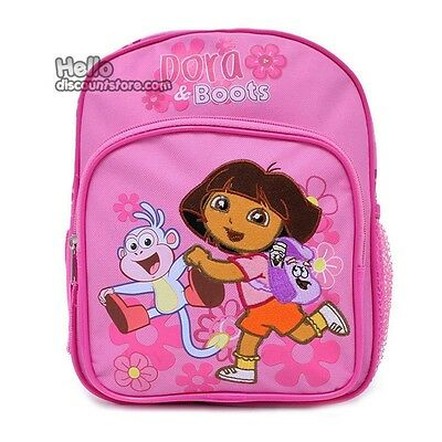 "Dora & Boots the Explorer 14"" School Backpack : Run in Flower"